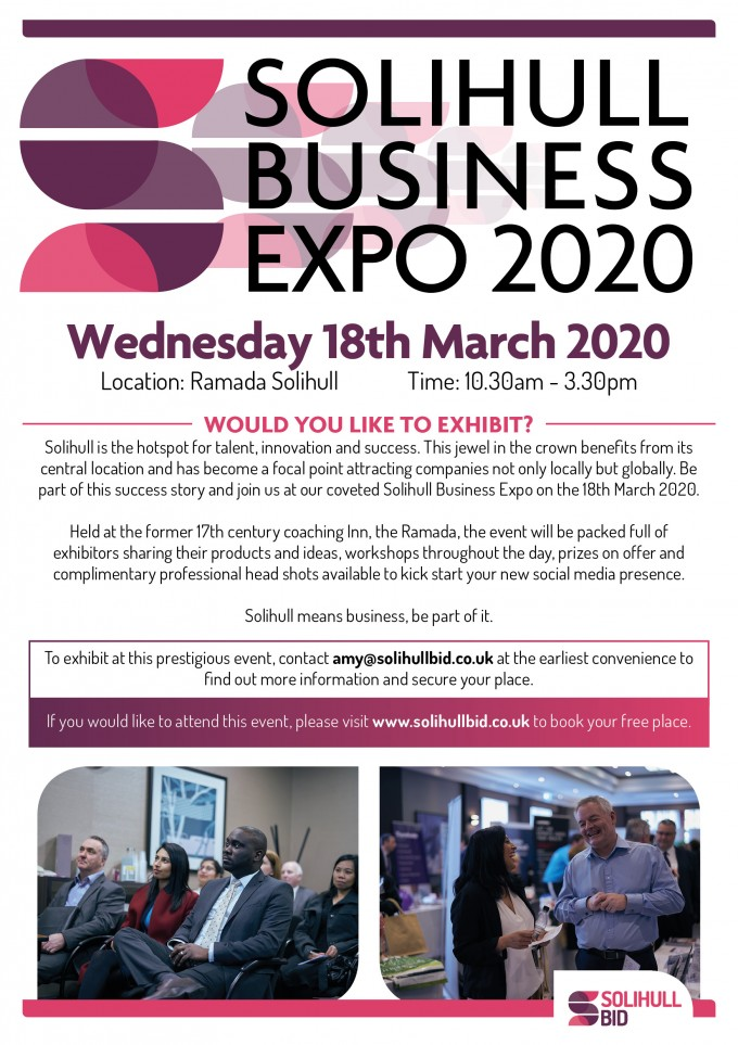 Would you like to exhibit at Solihull Business Expo 2020 1