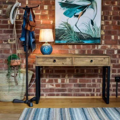 Boston Console Table Desk Reclaimed Wood Livs  copy